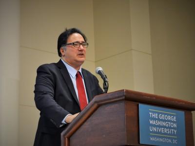 Dr. Ariel Pablos-Mendez speaks at the Mini-U