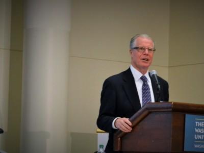 Dr. James Tielsch speaks at the Mini-U